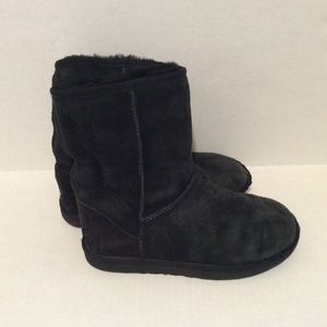 Ugg Boots US 7 Gray-Black Suede